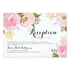 wedding reception card modern vintage pink floral wedding reception card zazzle com