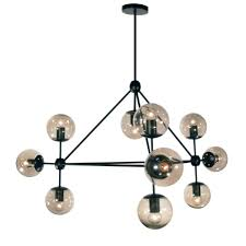 radionic hi tech dmarko 10 light 44 in matte black chandelier