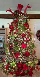 Christmas tree, red and lime, Christmas decorating, tree ideas deco mesh  Christmas tree