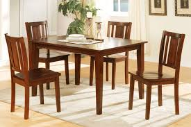 piece dining table set cherry finish huntington beach furniture room berlin glass and four chairs oak