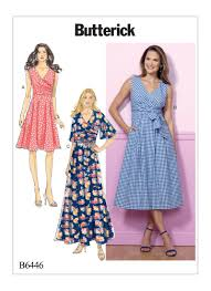 Wrap Dress Sewing Pattern Enchanting Butterick 48 Misses' Pleated Wrap Dresses With Sash