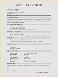 Free Resume Format Gorgeous Great Sample Resume Format For Experienced Candidates Images Gallery