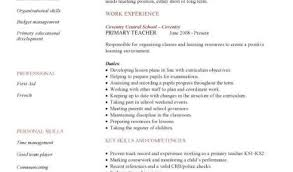 Cv Primary School Teacher Pre Primary School Teacher Resume Sample Primary Teacher Cv Sample