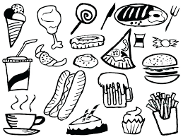 Breakfast Coloring Pages Breakfast Coloring Pages On Collection Of