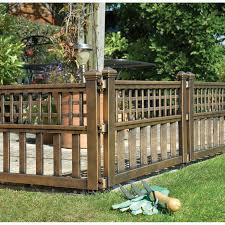 fence garden panels bronze 4 pack 2 4m