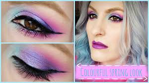 vibrant spring makeup look pretty in colour urban decay spectrum palette you