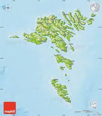 physical map of faroe islands