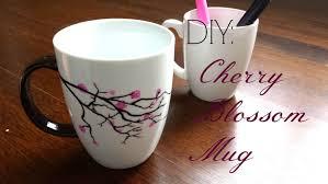 cool diy mugs designs diy gift idea cherry blossom mug you