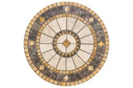 compass 30 round marble mosaic table top