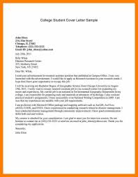 How To Write A Cover Letter For A Resume 100 sample student cover letter scienceresume 71