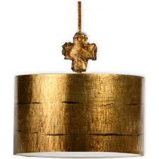 fragment gold hand leafed metal ceiling pendant light medium