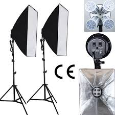 professional 100 240v photo studio photography light continuous lighting led light softbox kit 4