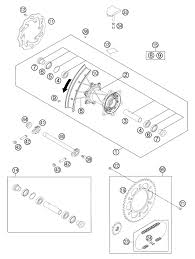 2012 ktm 250 sx f rear wheel parts best oem rear wheel parts diagram for 2012 250 sx f motorcycles