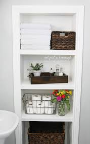 Bathroom Shelves Decorating Prepossessing Shelves In Bathroom Also Decorating Home Ideas With