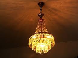 Kronleuchter Korblüster Stufenlüster Deckenlampe Glas 4