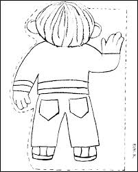 Flat Stanley Template Best Flat Stanley Outline Flat Outline Little Girl Body Template Clothes