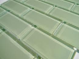 mint green crystal glass tile 2x4 subway