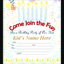 Idea Free Birthday Invitations Online Or Electronic Invitation Magnificent Online Birthday Invitations Templates