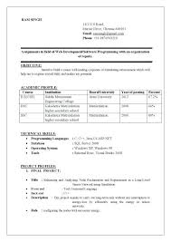 resume samples for freshers engineers pdf mechanical engineering