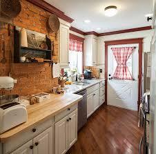 Small Farmhouse Kitchen Nice Small Farmhouse Kitchen With Dark Wood Floor Also Laminate