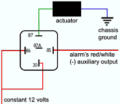 installing actuators wiring trunk actuator relay diagram
