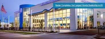 renier built the second largest honda dealership in the u s richfield bloomington honda in minneapolis
