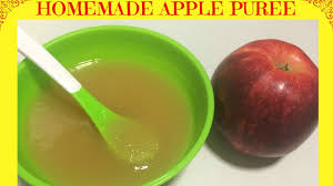 apple food. how to make homemade apple puree   baby food starting from 6 months - youtube