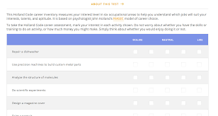 Career Assessment Test Free Top Career Aptitude Tests For High School Students Student
