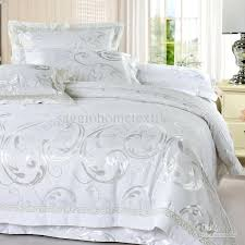 luxury bedding sets stylish luxury white full or queen size of soft silk floss for comforter