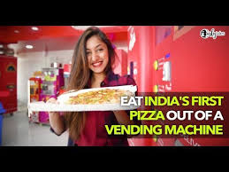 Pizza Vending Machine Extraordinary Yess Pizza In Kandivali Serves You Pizza Right Out Of A Vending