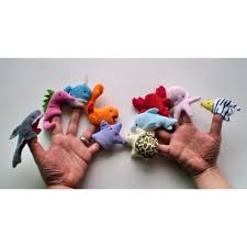 10pcs Marine <b>Animals Finger Puppets</b> Set >>> Check out the image ...