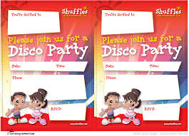 Childrens Disco Invitations Childrens Entertainment Discos Bouncy Castle Hire In