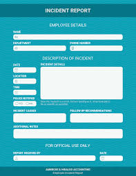 How To Write An Effective Incident Report Examples