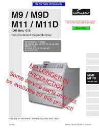 midmark m9 m11 service manual