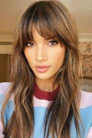 fringe hairstyles from choppy to side
