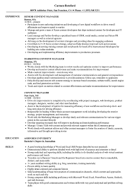 On Air Personality Resume Sample Content Manager Resume Samples Velvet Jobs 37