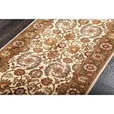runner rug pad classic hand knotted ivory green fl runner rug x felt rubber rug pad runner rug pad
