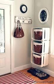 crate shelf statement wooden