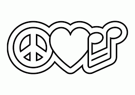 Small Picture Peace Sign Coloring Pages Printable Coloring Home