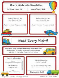 Website With Classroom Newsletter Templates That You Can Type In And