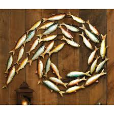 first rate fish wall decor metal 200141 art at sportsman s guide for bathroom nursery