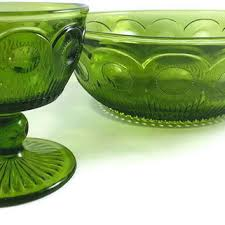 green glass salad bowl. Simple Green Green Glass Salad Bowl And Sherbert Dish Chips Dip Set Vin Intended A