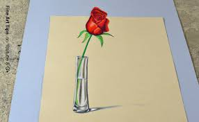 the secret technique for 3d drawings how to draw an anamorphic rose in 3d you