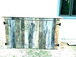 garbage can enclosure trash bin storage cabinet outdoor diy