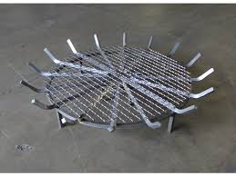 enchanting fire pit grate of stainless steel round