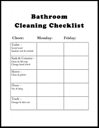 Bathroom Cleaning Schedule New Inspiration Ideas