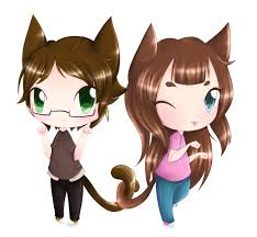 anime chibi cat couples. Perfect Couples Chibi Cat Couple By N3k0Manc3R  With Anime Cat Couples