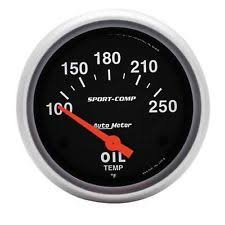 auto meter other car truck gauges au3542 auto meter oil temperature 2 5 8 in sport comp analog gauge