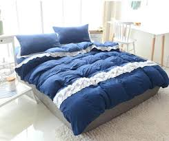 blue and yellow bedding dark blue yellow rose gray lace washed cotton full queen king size