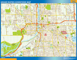 world wall maps store grand rapids downtown map  more than